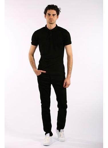 Rodrigo Erkek Beyaz Düz Polo Yaka T-shirt Siyah